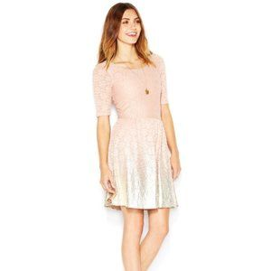 MAISON JULES ROSE GOLD OMBRE FIT N FLARE DRESS